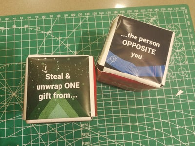 White Elephant Gift Exchange - Custom Rules Dice (with Templates)