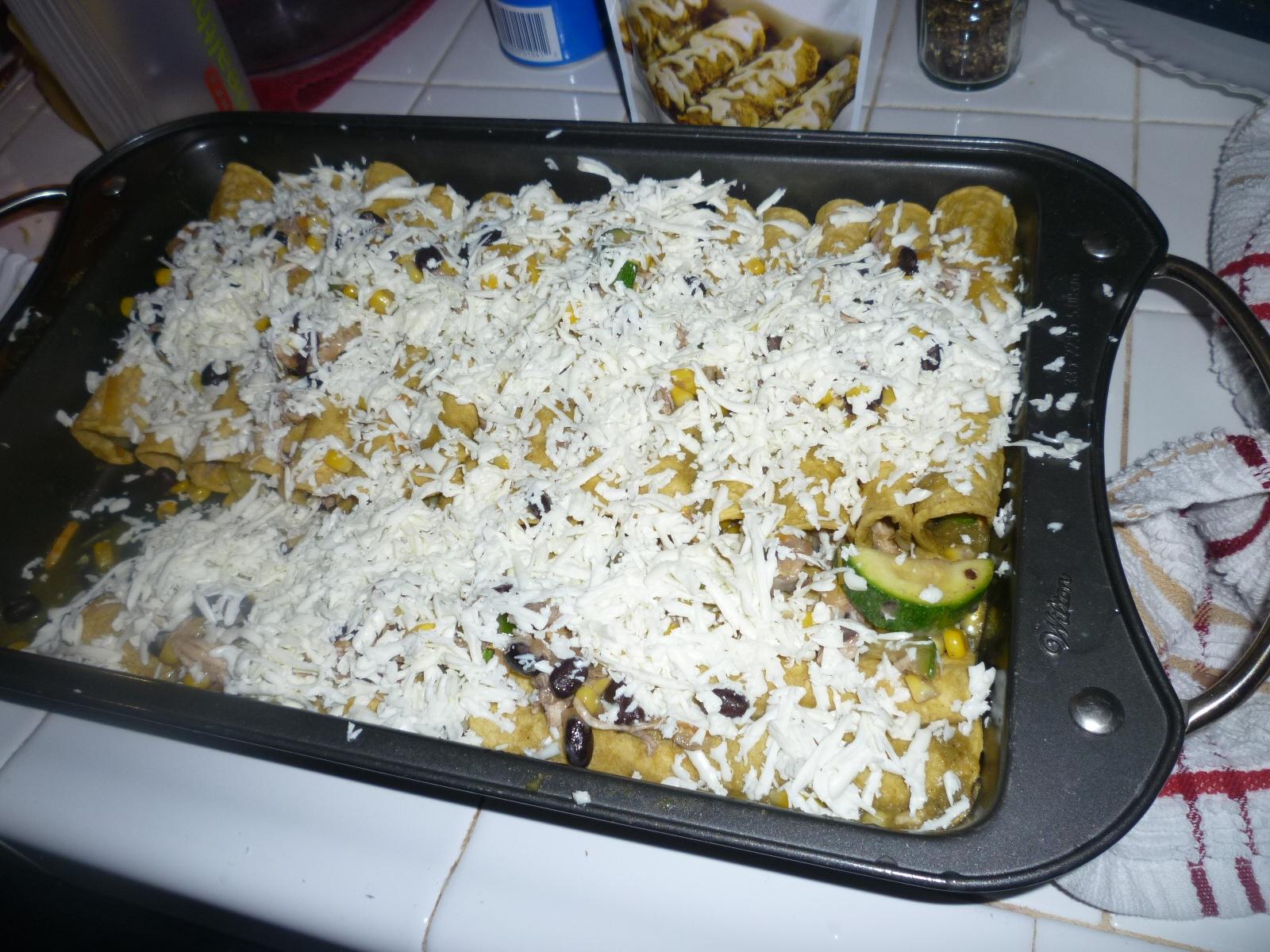 Picture of Chicken Enchiladas Verdes From Rose's Kitchen