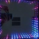 Square Infinity Mirror Clock