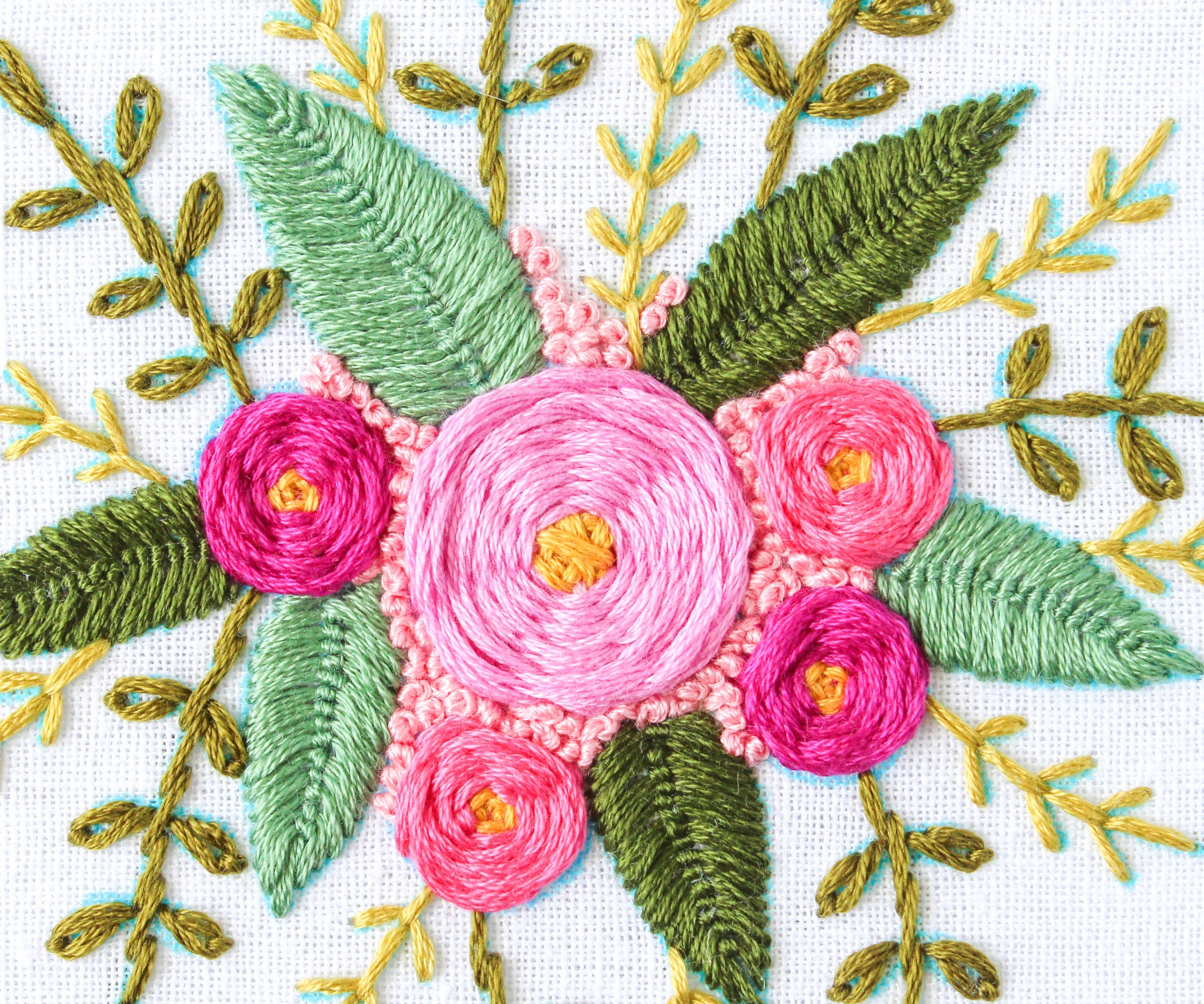 How To Hand Embroider Flowers 7 Steps With Pictures
