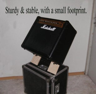 """Guitar Amp Tilt Stand - """"African Chair"""" Design - Simple, Small, Strong, Easy, Free or Real Cheap"""