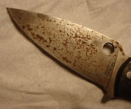 Cleaning Rust Off a Knife