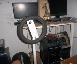 Pc Steering Wheel With Pedals. Turn Joystick to PC Gaming Wheel
