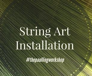String Art Installation
