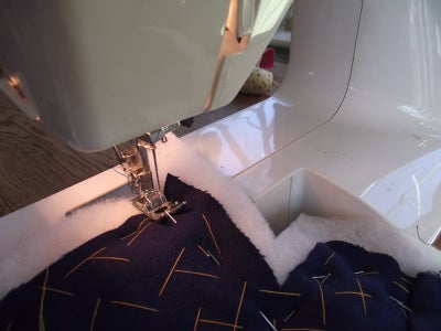 Pin Back & Front Together and Then Sew