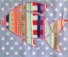 Reverse applique spangly fish picture.