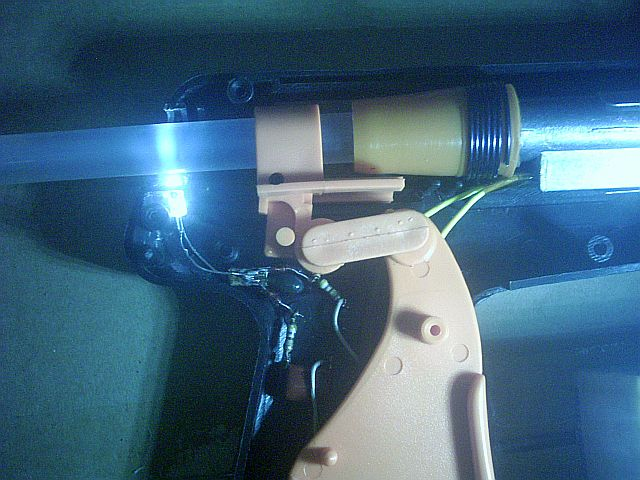Picture of The LED in Position Inside the Glue Gun