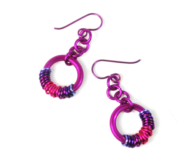 Picture of Beginner Chainmaille- Coiled Earrings