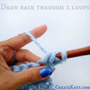 Draw Your Yarn Over Back Through Only the First 2 Loops.