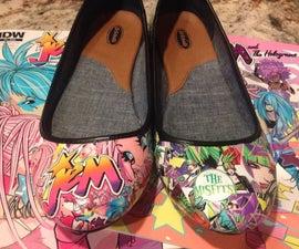Jem vs. The Misfits Tribute Shoes