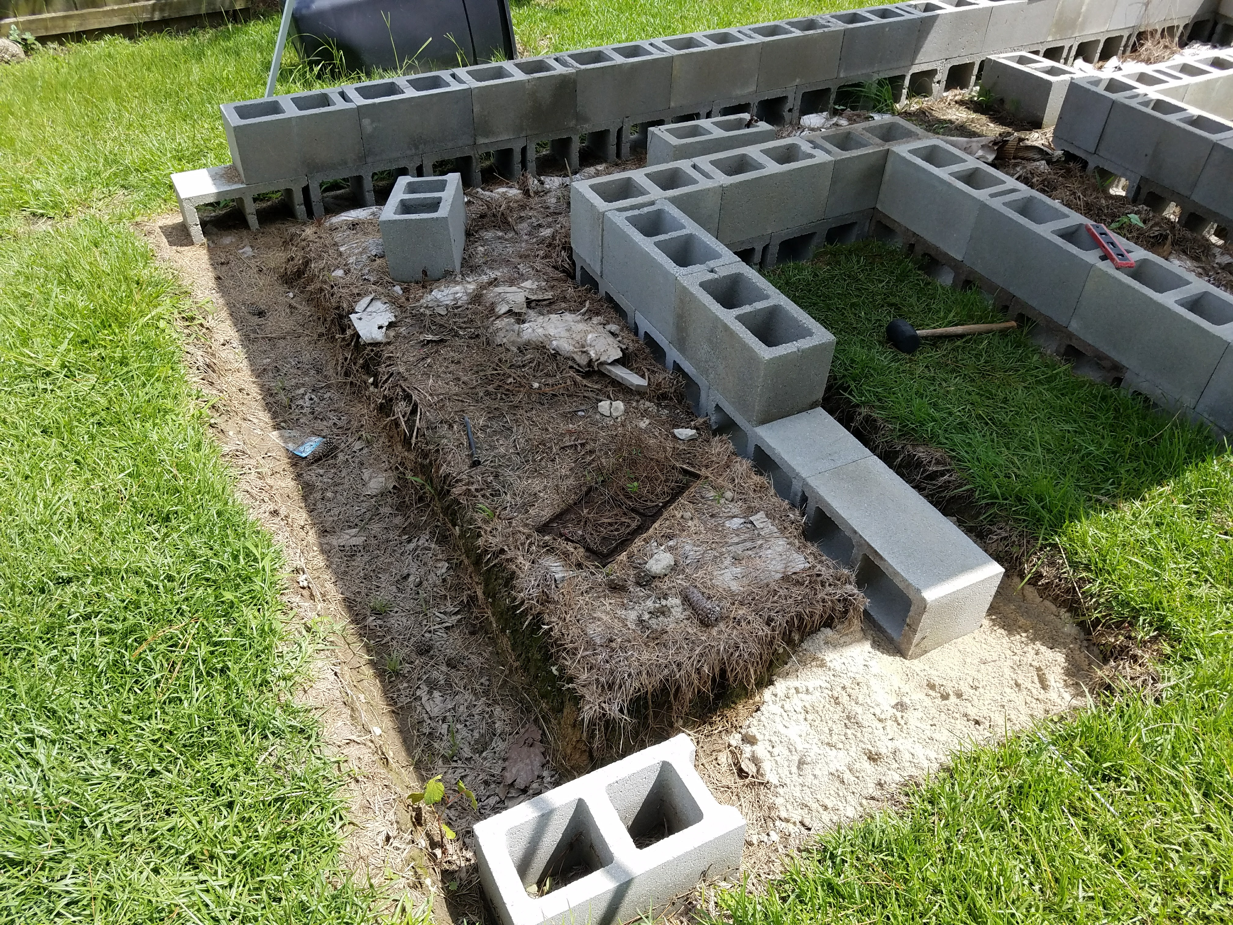 Picture of Fill & Level the Trench, Set the First Course