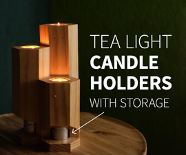 Tea Light Candle Holders (with Storage)