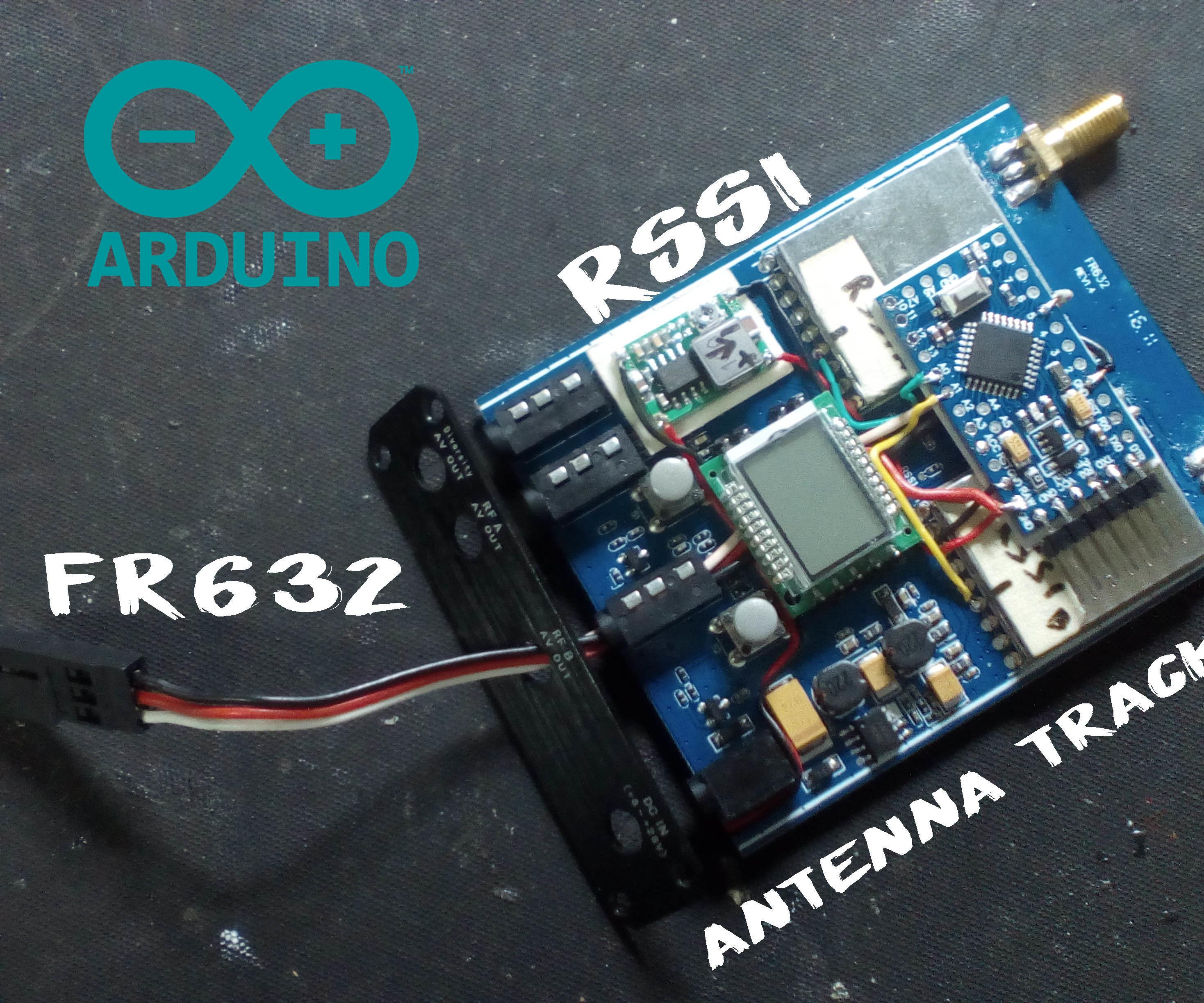 Arduino FR632 RSSI Antenna Tracker: 10 Steps