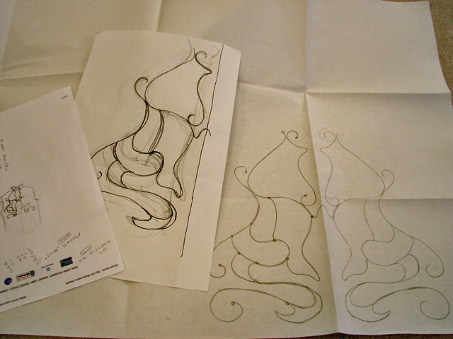 """Picture of Sewn Pieces: """"embroidery"""" With Cording Trims"""