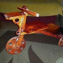 WOODEN TRICYCLE FLOWER POT STAND