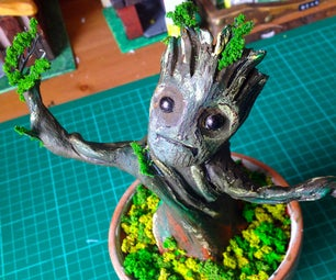 Making a Baby Groot Model From Guardians of the Galaxy