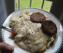 easy southern style biscuits and gravy!