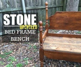 Build a Bench from an Old Bed Frame (video included)