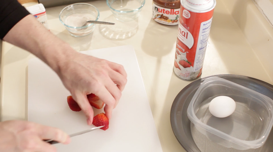 Cut Up Strawberries