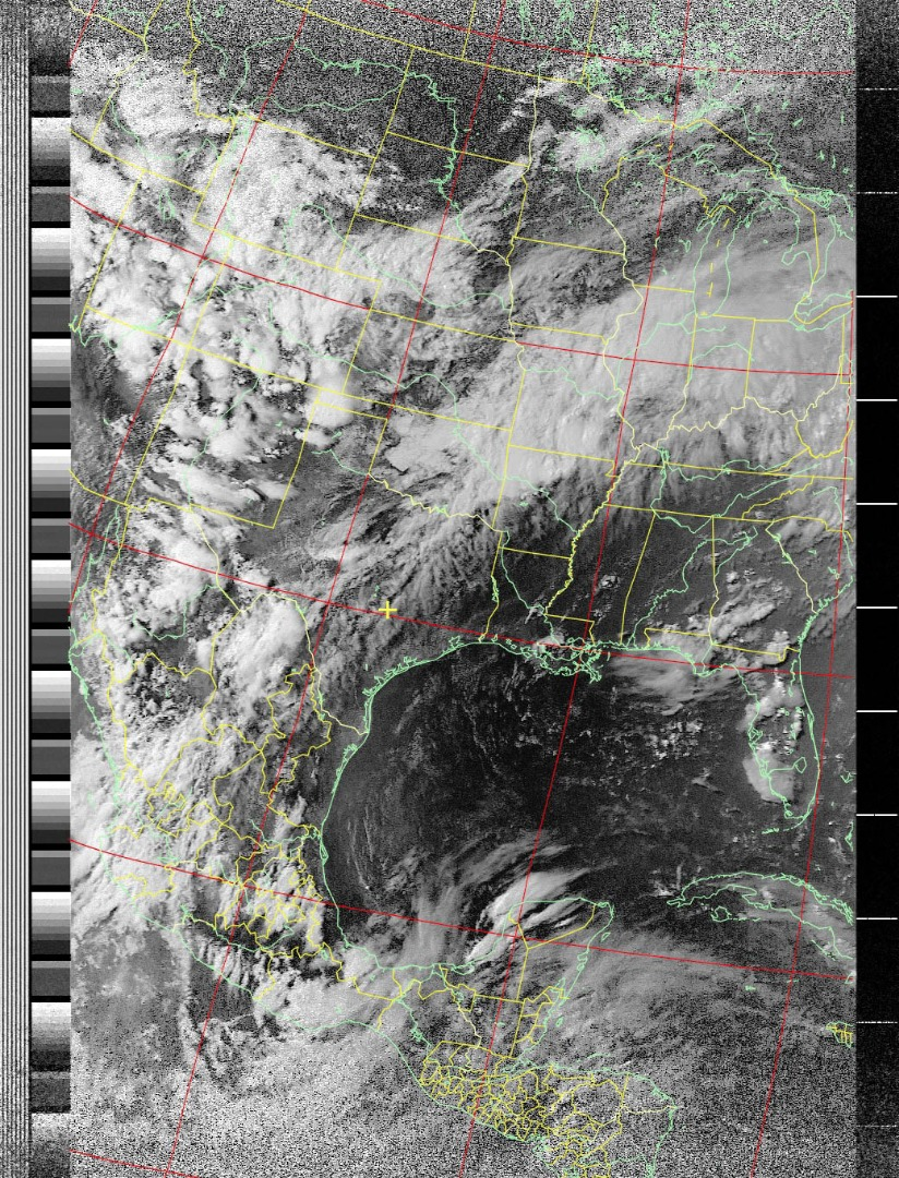 Picture of NOAA Satellite Signals With a PVC QFH Antenna and Laptop