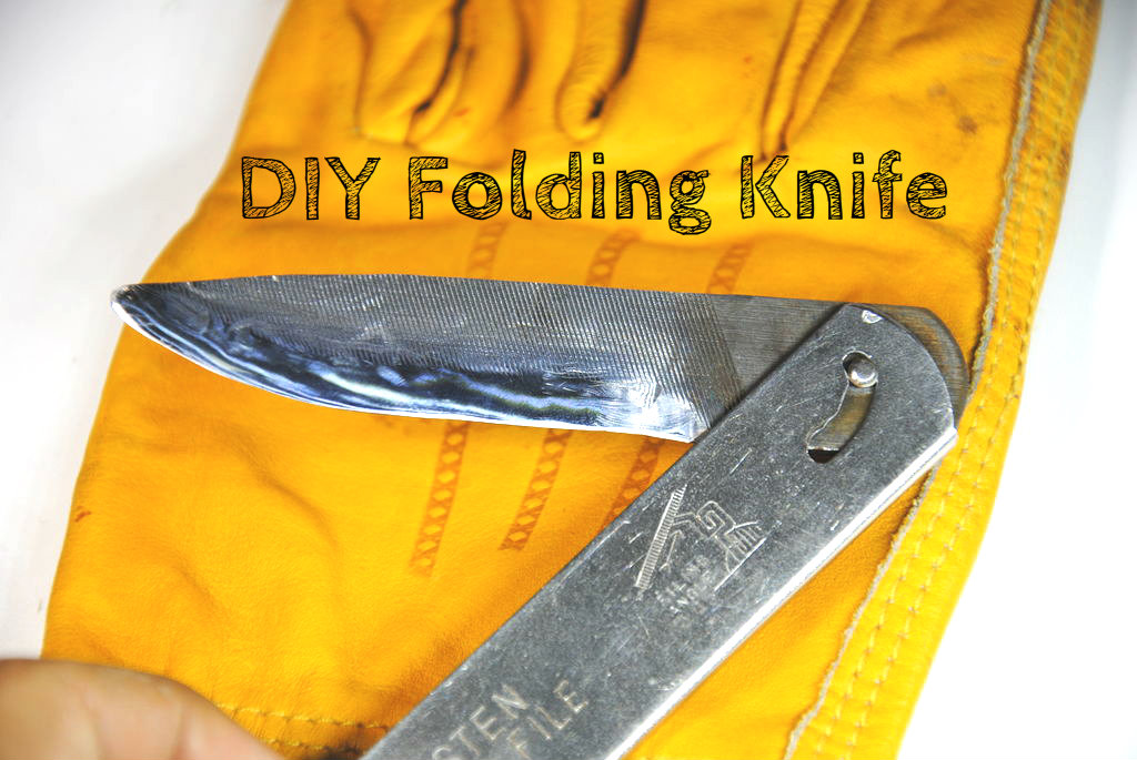 Picture of Folding Knife From an Old File (w/ Basic Tools)
