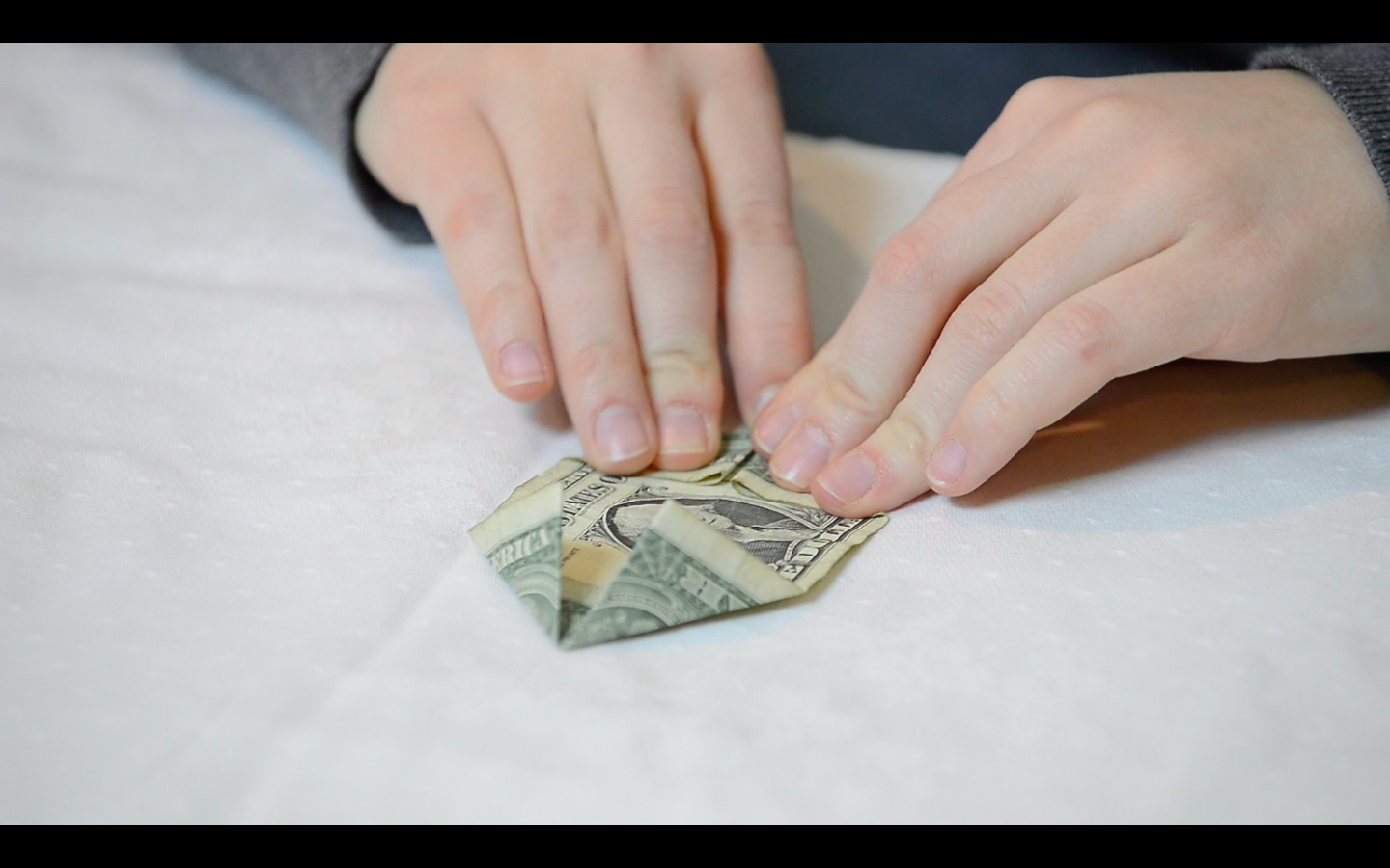 Picture of Origami Flower: How to Fold the Dollar Bills - Fold 4