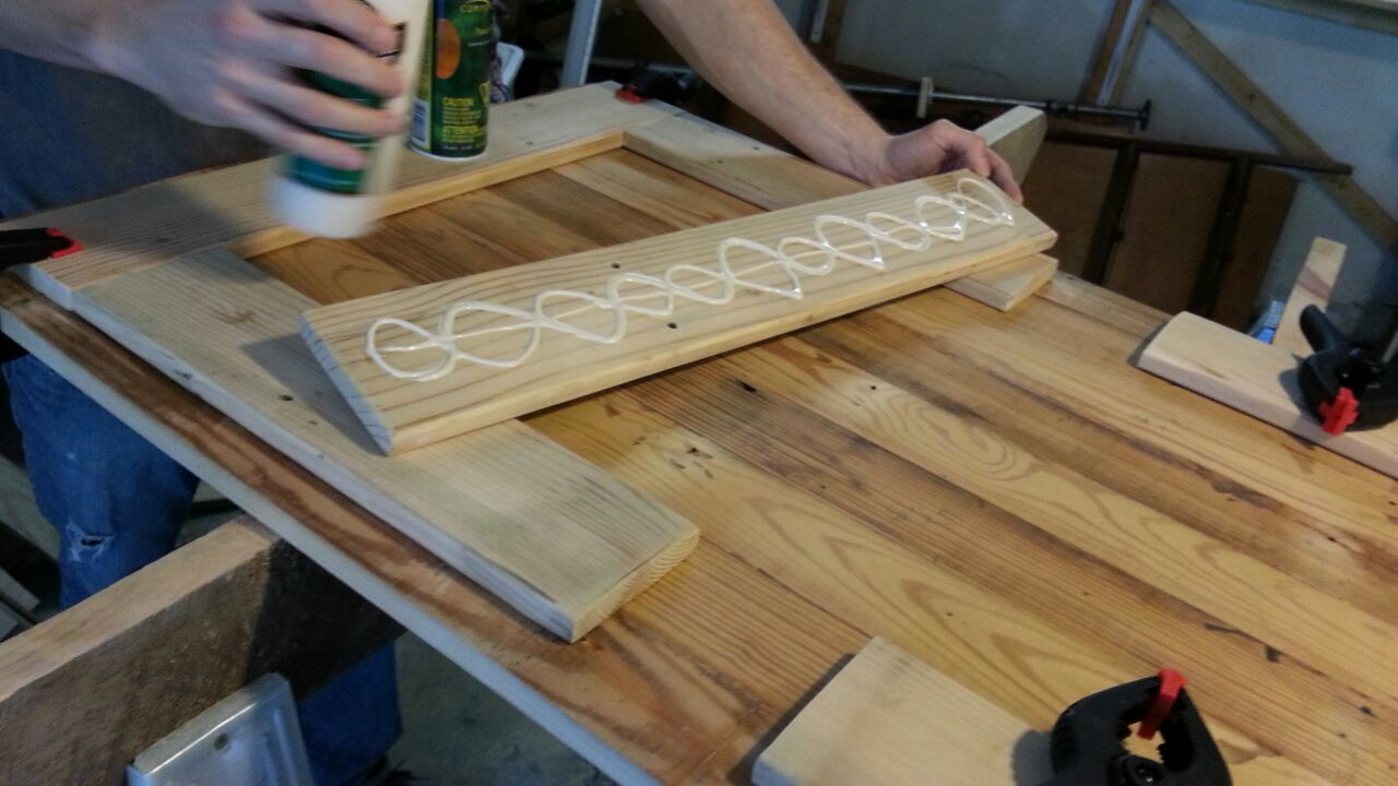 Picture of Gluing the Bracing