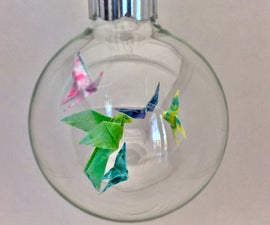 Miniature Origami and Glass Ornaments