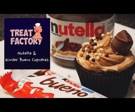 Nutella & Kinder Bueno Cupcakes