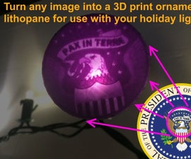 Custom Glowing 3D Printed Ornaments