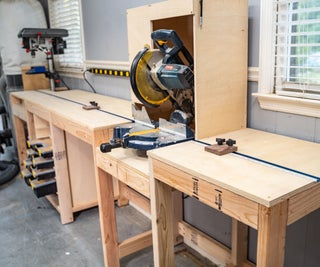 Miter Station + Storage Out of 2x4's