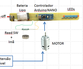 Arduino Propeller Message Display (POV)