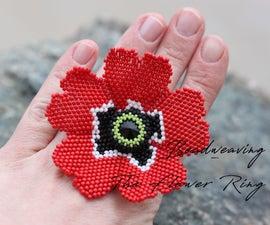 Beadweaving - the Flower Ring