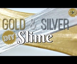 FLUFFY GOLD & SILVER SLIME! NEW YEARS EVE POKING SLIME!  NO BORAX!