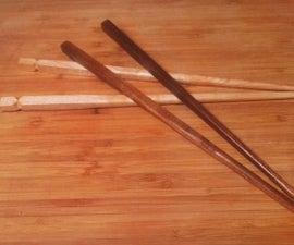Scrap Wood Chopsticks- Recycling scrap hardwood