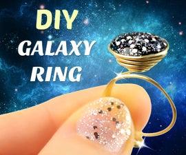 DIY Galaxy Ring   Easy Ring