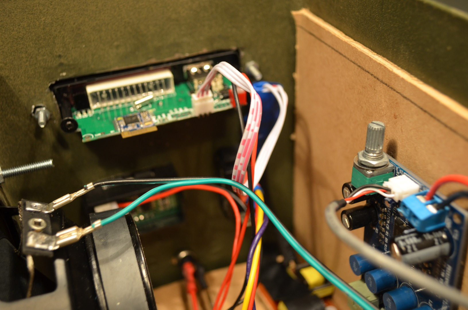 Picture of Wire the Speakers to the Amplifier