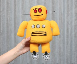 sew your own instructables robot plushie