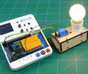 Make Voice Controlled Light Bulb Using Relay and Evive