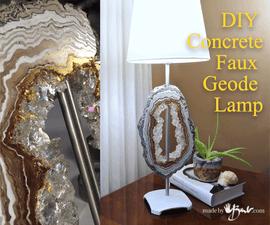 DIY Concrete Faux Geode Lamp