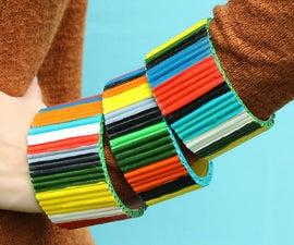 Recycled Magazine Bracelets