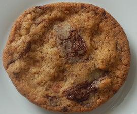 coffee, chocolate, fudge and walnut cookies
