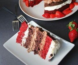 Quadruple Decker Red Velvet Chocolate Cake