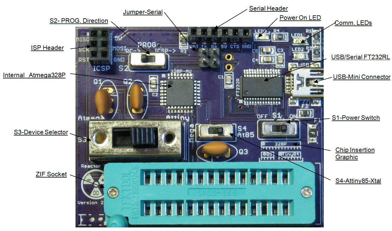 Picture of Assembly Instructions for Reactor Core, DIY Arduino Programmer