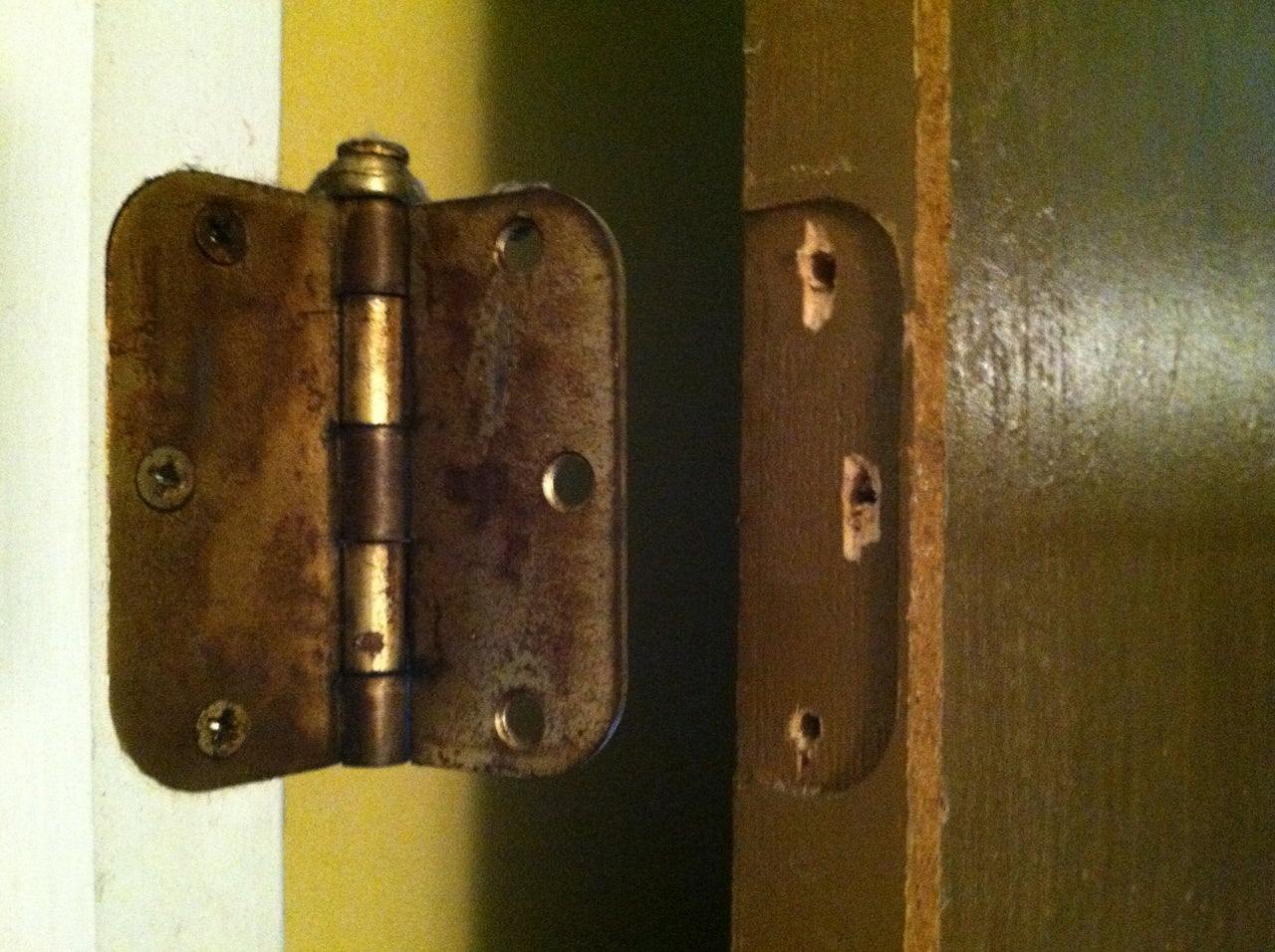 How To Repair Stripped Screw Holes For A Door Hinge 8 Steps