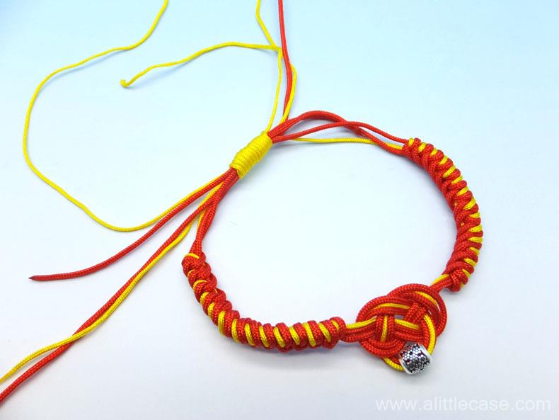 Picture of Tie a Wrapped Knot to Secure Your Bracelet.