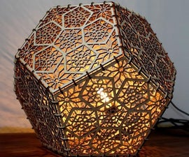 Dodecahedron Shadow Lamp