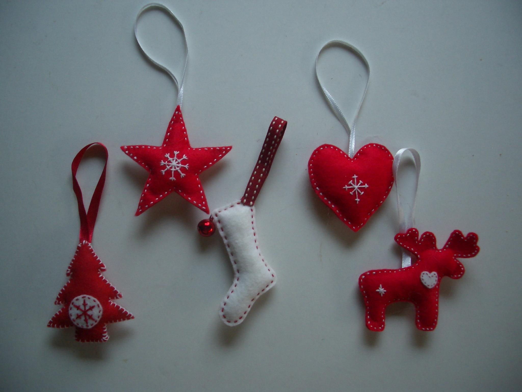 Scandi Christmas Tree Drawing.Scandinavian Style Felt Christmas Tree Decorations With