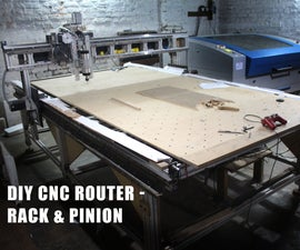 DIY CNC Router Build (large Format 5x10ft, Rack and Pinion)
