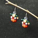 Tutorial on Pumpkin and Flower Cluster Earrings for Halloween